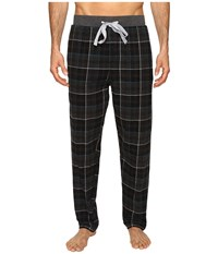 Kenneth Cole Reaction Banded Flannel Pants Black Men's Pajama
