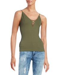 Free People Seamless Crossfire Cami Green