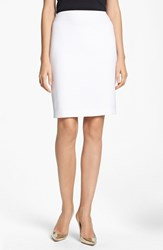 Women's St. John Collection Crepe Marocain Pencil Skirt Bright White