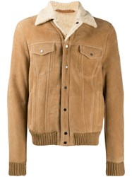 Salvatore Santoro Ribbed Trim Jacket Neutrals