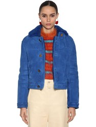 Marni Shearling Jacket Blue