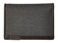Tumi Alpha Gusseted Card Case With Id Anthracite Credit Card Wallet Pewter