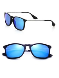 Ray Ban Square Keyhole Youngster Sunglasses Light Blue