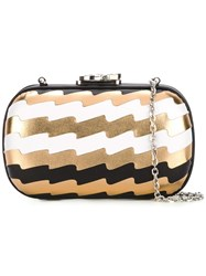 Corto Moltedo 'Susan C Star' Pleated Clutch Multicolour