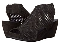 Vaneli Inez Black Suede Women's Wedge Shoes