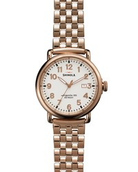 The Runwell Rose Gold Watch With Bracelet Strap 41Mm Shinola