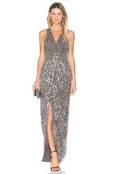 X By Nbd Genevieve Gown Metallic Silver