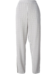 O'2nd Checked Trousers Nude And Neutrals