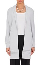 Giorgio Armani Women's Mixed Stitch Long Cardigan Grey