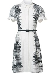 Carolina Herrera Floral Collar Dress White