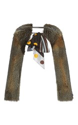 Marni Fox Fur Shawl Brown