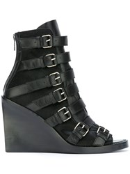 Ann Demeulemeester Blanche Buckled Straps Boots Black
