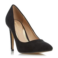 Head Over Heels Addyson Pointed Toe High Heel Court Shoes Jet Black