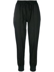 Andrea Ya'aqov Tapered High Waisted Trousers Black