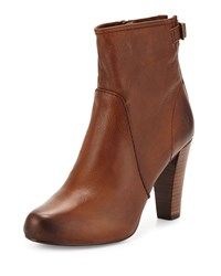 Frye Marissa Short Leather Boot Cognac Red Women's