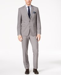 Vince Camuto Men's Slim Fit Stretch Gray Solid Suit Grey