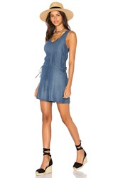 Monrow Lace Up Romper Blue