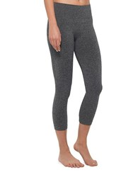 Mpg Elastic Waist Cropped Leggings Heather Charcoal
