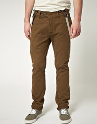 G Star Artic Omega Tapered Braced Chino Green