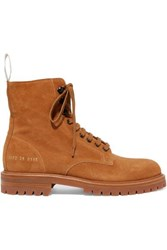 Common Projects Combat Suede Ankle Boots Tan