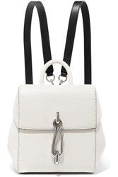 Alexander Wang Hook Mini Smooth And Textured Leather Backpack White