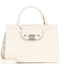 Jimmy Choo Rebel Leather Tote White