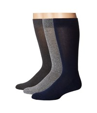 Hue Marled Sock With Half Cushion Steel Pack Men's Crew Cut Socks Shoes Black