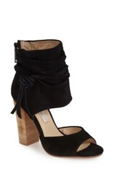 Kristin Cavallari By Chinese Laundry Leigh Ankle Cuff Heeled Sandal Black