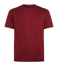 Z Zegna Mercerised Cotton T Shirt Male Red