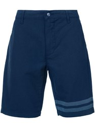 7 For All Mankind Striped Detail Bermuda Shorts Men Cotton 38 Blue