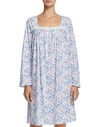 Eileen West Long Sleeve Short Gown Winterwhite Multi Floral