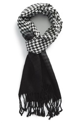 The Rail Houndstooth Ombre Scarf Black White
