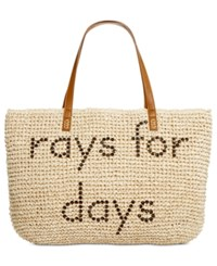 Styleandco. Style Co. Rays For Days Straw Beach Bag Tote Only At Macy's