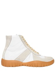Maison Martin Margiela 20Mm Tabi Leather And Suede Sneakers