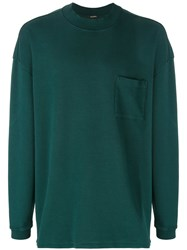 Yeezy Front Pocket Sweatshirt Cotton M Green