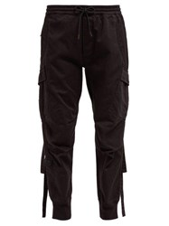 Maharishi Cargo Cotton Twill Track Pants Black