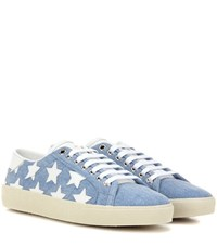Saint Laurent Court Classic Sl 6 Denim Sneakers Blue