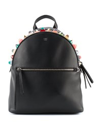 Fendi Embellished Backpack Black