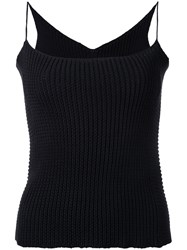 Theatre Products Knitted Cami Top Women Cotton Polyester One Size Black