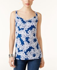 Inc International Concepts Lace Print Cowl Neck Top Only At Macy's Lace Flower