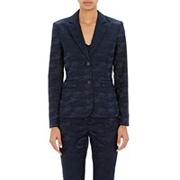 Atm Anthony Thomas Melillo Camouflage Jacquard Blazer Navy Black