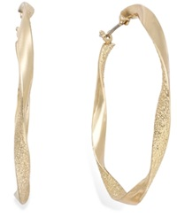 Alfani Gold Tone Twist Hoop Earrings