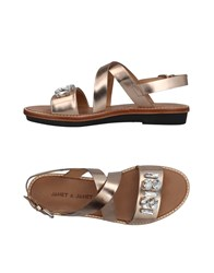 Janet And Janet Sandals Gold