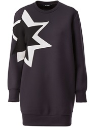 Neil Barrett 'Pop Art Star' Sweat Dress Black