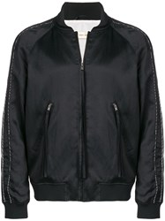 Damir Doma Zipped Bomber Jacket Black
