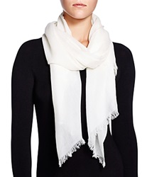 Fraas Cashmere Solid Wrap Scarf Off White