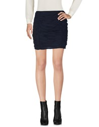 Intropia Mini Skirts Dark Blue
