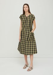 Sofie D'hoore Dong Gathered Waist Dress Olive Black