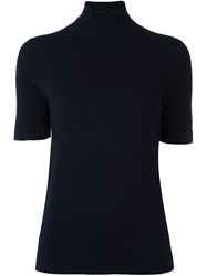 Allude Short Sleeve Jumper Blue