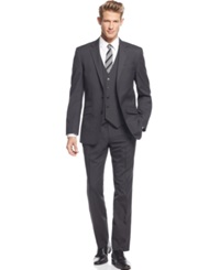 Unlisted By Kenneth Cole Multi Striped Slim Fit Vested Suit